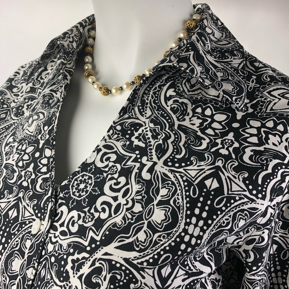 Coldwater Creek Tops - Coldwater Creek Blank and White Blouse 8